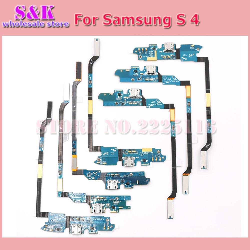 imágenes para 10 unids/lote Envío Libre puerto de carga del muelle del cargador usb cable de la flexión cinta para samsung s4 i9505 i9500 i337 i545 l720 m919 r970