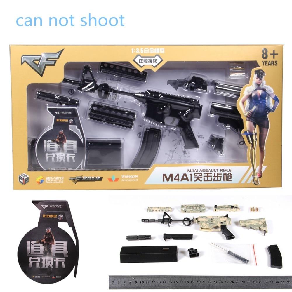 1: 3.5 İsti Satış AK47 metal oyuncaq silah modeli Toy Guns snayper - Uşaq konstruktorları - Fotoqrafiya 6