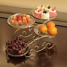 цена на Fruit plate living room creative modern household platter dried fruit candy plate European coffee table multi-function plate