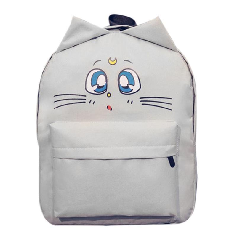 Shoulder Bag Cat Ear Canvas School Bags Backpacks Girls Lovely Students Cancas Preppy Style Backpack