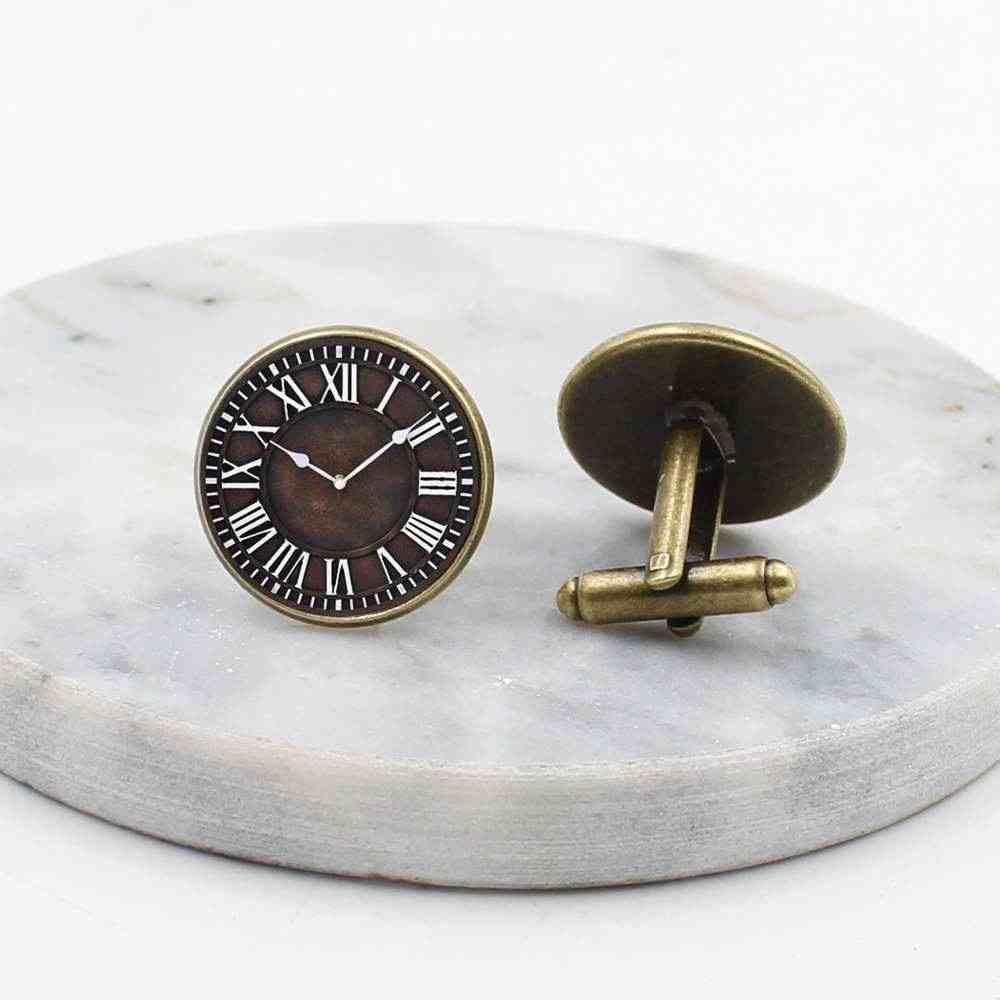 20mm 새로운 런던 커프스 단추, 둥근 돔 steampunk, 빈티지 보석 그림 시계 남자의 커프스 단추 선물
