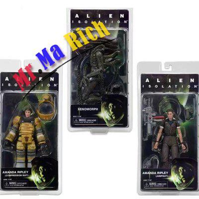3styles Movie Alien Isolation Series Amanda Ripley Jumpsuit Xenomorph Compression Suit Cool Pvc Action Figure Model Toy 7 видеоигра для xbox one alien isolation
