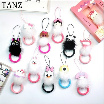 Mini cute cartoon Mobile Phone Straps Soft silicon Phone Short Lanyard Strap Ring cellphone for ID Pass Card Phones MP3 Camera