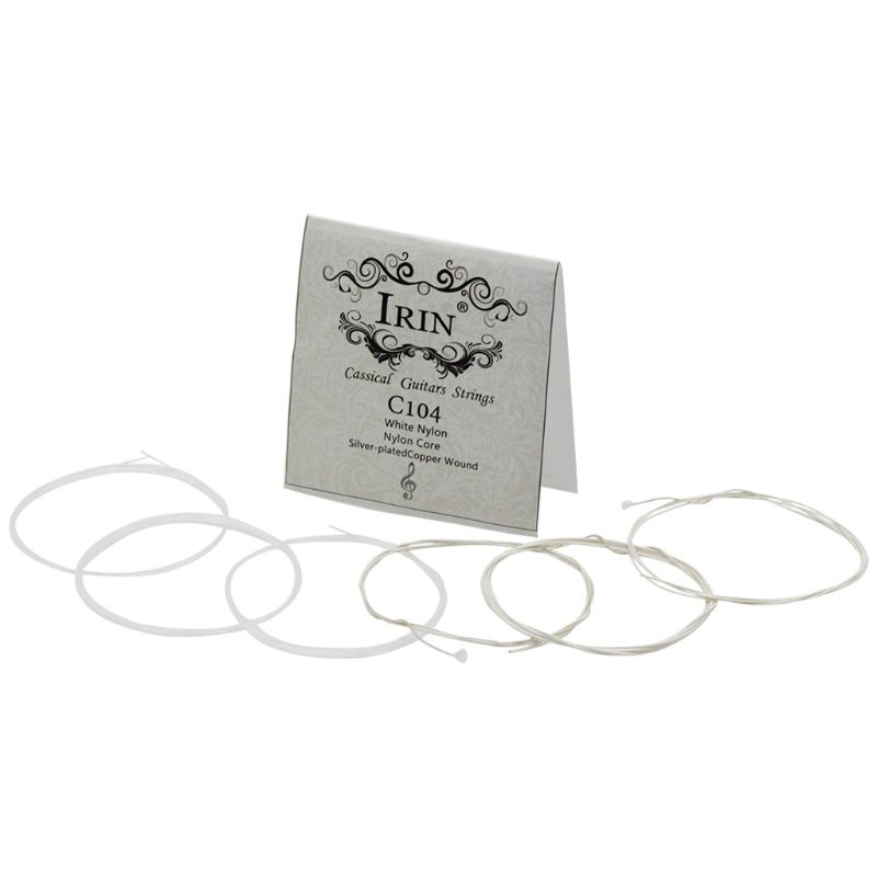 IRIN C104 Classical Guitar String White Nylon Silver-plated Copper Wound 1st-6th(.028-.043)