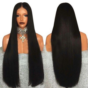 Perruque Lace Front Wig synthétique lisse noire fantaisie Beauty | Couleur 1B, perruques résistantes à la chaleur de 13x6 pour femmes noires