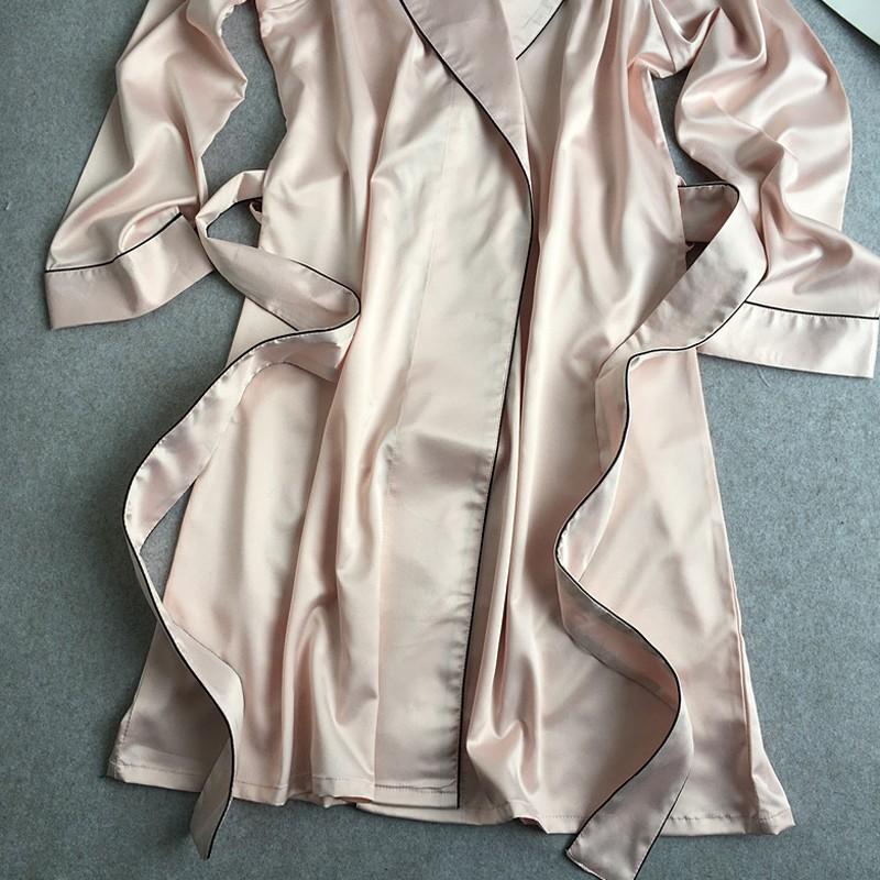 e9b5b0af9f 2016 New Sexy Women Long Sleeve robe women nightgown Satin bathrobe  sleepwear long-sleeve plus size robe Bathrobe With SashesUSD 44.89 piece