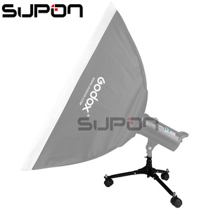 Image 2 - ¡SUPON en Stock! Flash Light Flood Stand 20cm base plegable rodillo estudio de fotografía LED Triopod con rodillo