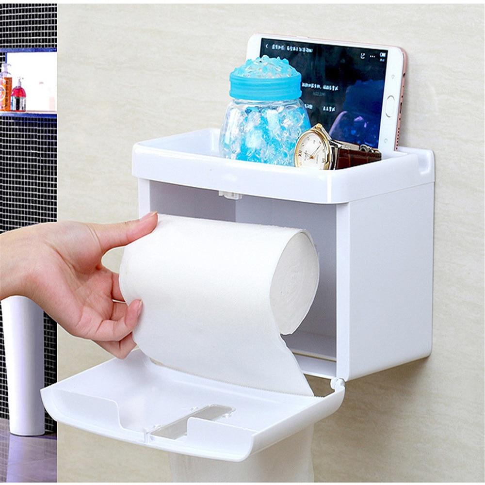 Simple bathroom accessories toilet paper holder white lavatory ...
