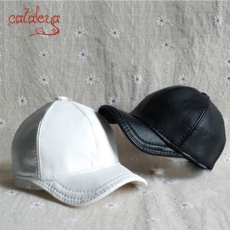 BJD/SD 1/3 1/4 1/6 1/8 1/12 boneca cor Sólida PU curvo boné de beisebol cap chapéu (produtos Personalizados: favor fornecer o tamanho da cabeça)