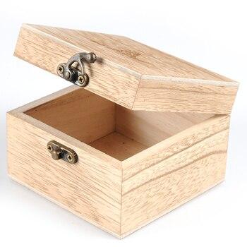 Coffret cadeau en bambou pour montre en bois -Forme carré