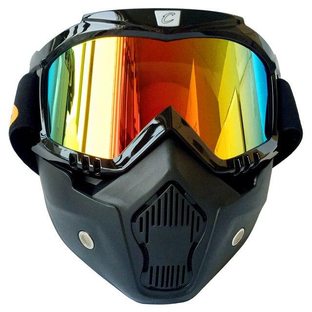 Hommes Femmes Ski Snowboard Lunettes Moto Motocross Racing Lunettes Sports  de Plein Air Lunettes Masque lunettes f641efe20f79