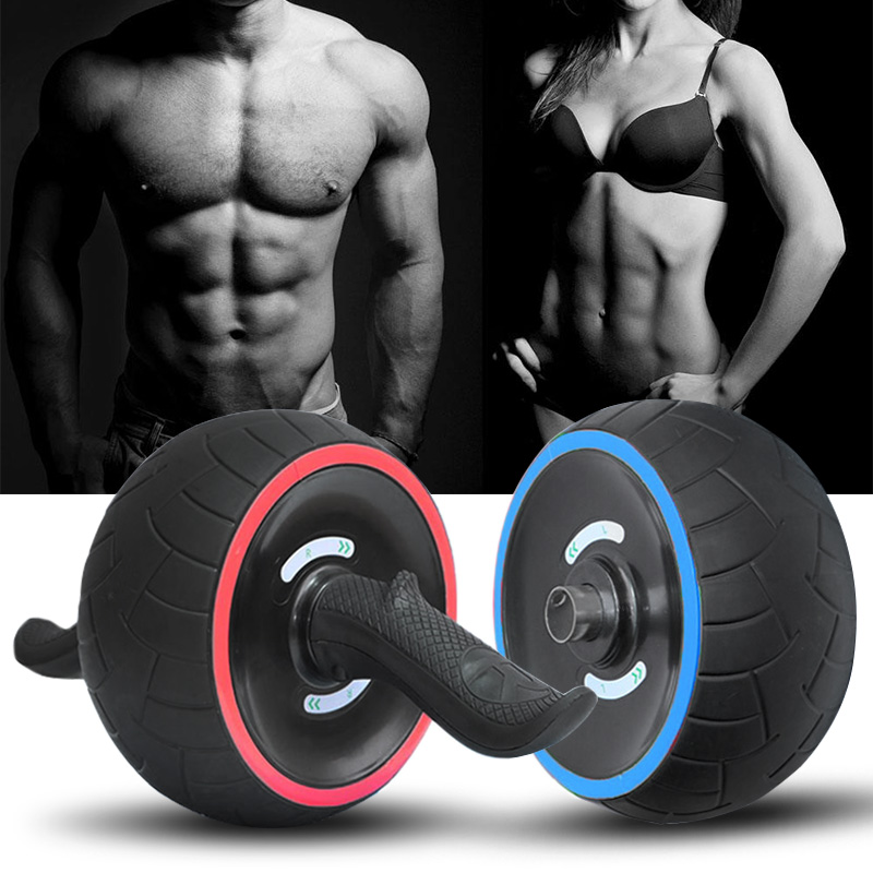 ZHI-HHA Abdominal Multifunctional Exercise Equipment Ab Wheel Double Roller with Resistance
