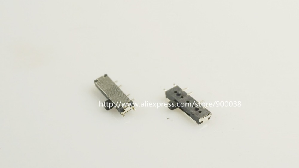 10 pcs Miniature Slide Switch 8 Pin 1P3T SP3T ON-ON-ON Right Angle SMT / SMD PCB 1.50mm Height rt snow auto mini l 6018