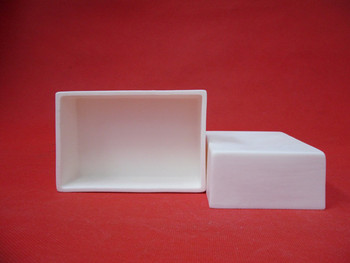 99.3% alumina crucible / 60*30*15mm/ Rectangular corundum crucible / Al2O3 ceramic crucible / Sintered crucible фото