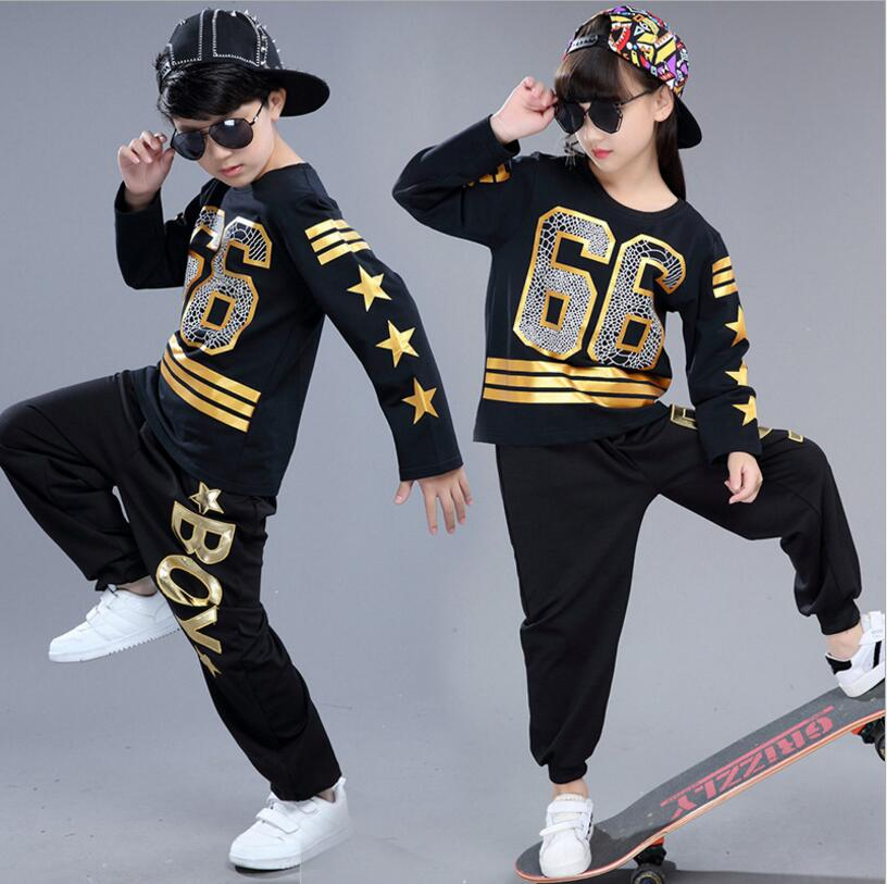 Hot 2017 New Fashion Children Girls Street Dance Hip Hop Clothing Kids Jazz Dance Costumes Top