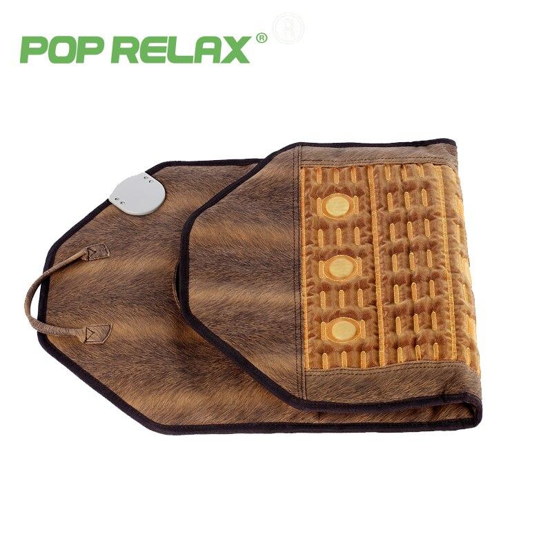 POPRELAX health electric heating massage mat pad body pain relief jade tourmaline mainfan stone mattress massage instrument 4595