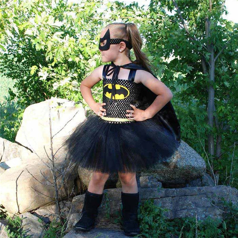 BATGIRL DRESS WITH WINGS Womens Costume  Halloween Cosplay Fancy Dress W3.