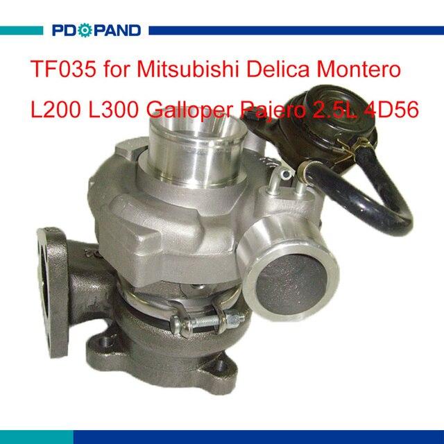 US $137 3 11% OFF|turbo part TF035 turbo charger kit 49135 04210 for  Mitsubishi Delica Montero L200 L300 Galloper Pajero 2 5L 4D56 diesel  engine-in