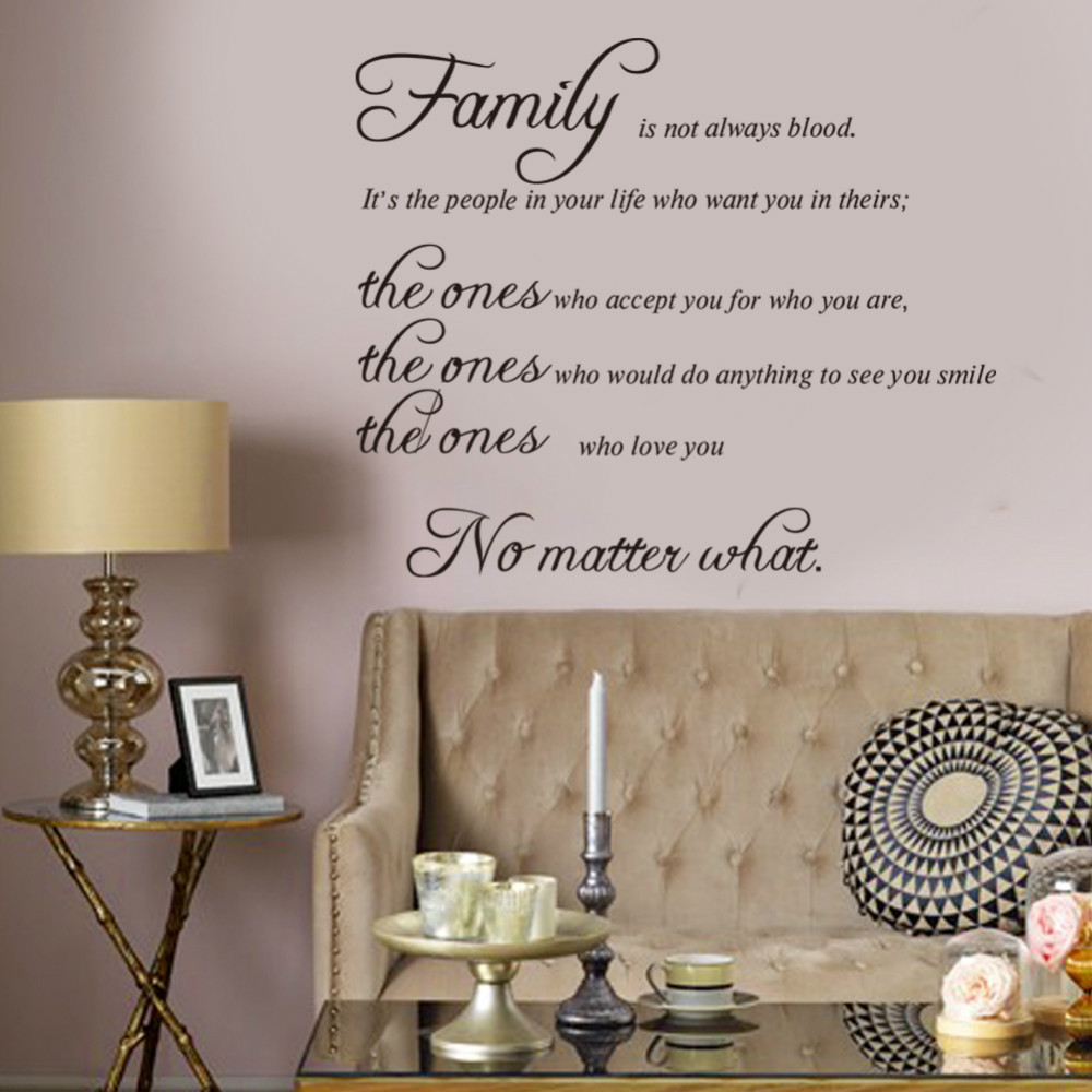 Free shipping family is not blood warm quote wall stickers home free shipping family is not blood warm quote wall stickers home decor vinyl art decals sticker family wedding decoration in wall stickers from home garden amipublicfo Choice Image
