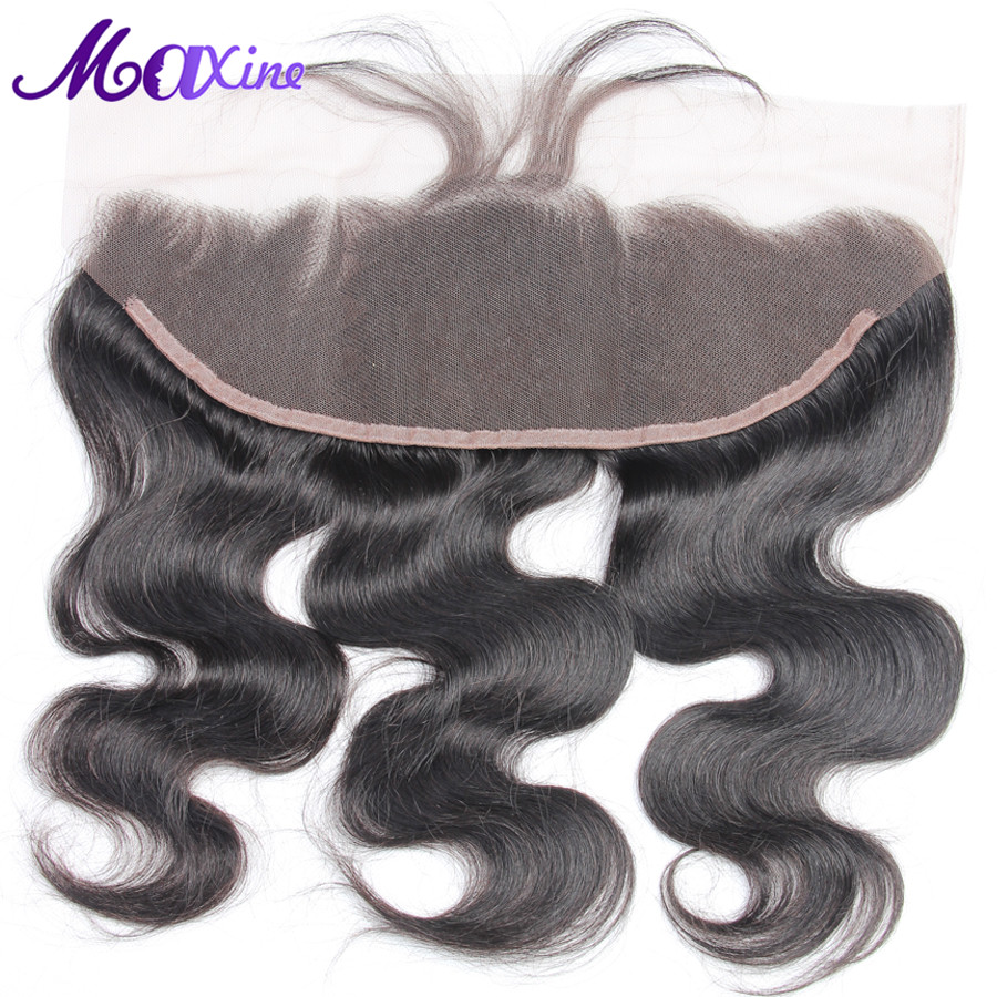 Maxine Hair Body Wave 13x4 Ear to Ear Pre Plucked Lace Frontal Closure With Baby Hair