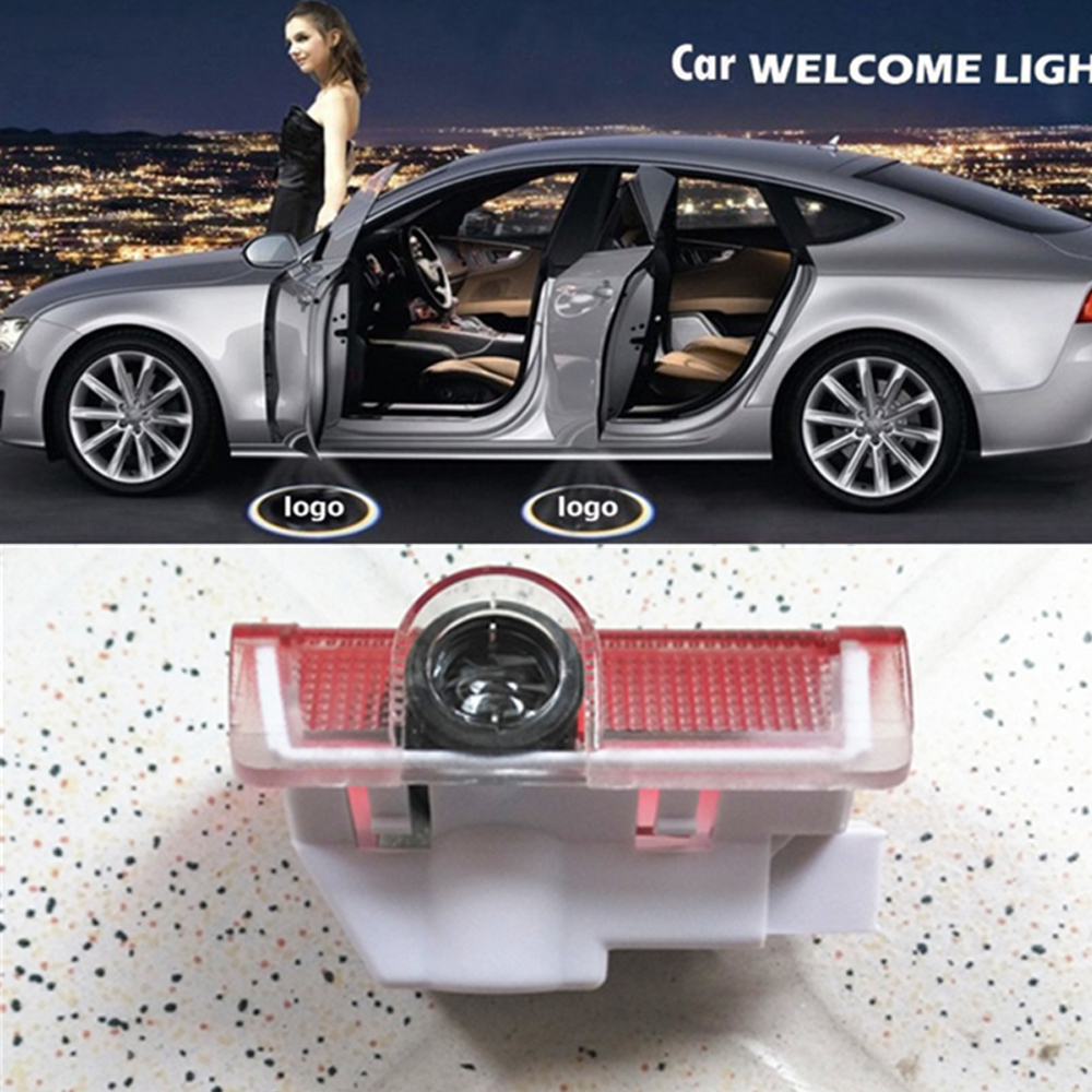 2x No drill 12V LED car Door Courtesy Ghost Shadow Logo Lights For Mercedes-Benz E B C ML Class w212 w166 w176 Welcome door lamp
