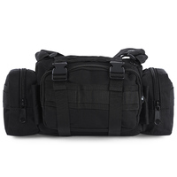 Outdoor 3P Military Tactical Assault Shoulder Bag Nylon Molle Waist Pack Camping Hiking Pouch Backpack Bag