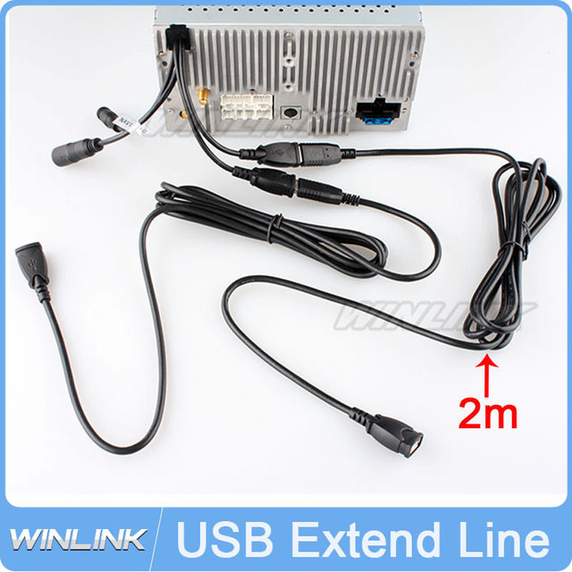 New Two Pieces Universal USB Extended Line 2m Long USB Extend Data Cable Line For Connecting