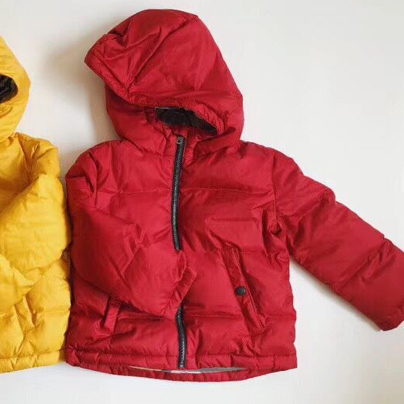 купить winter down jacket parka for girls boys coats red down jackets children's clothing snow wear kids outerwear & coats in Nov. по цене 6098.93 рублей