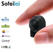 Pequeno sem fio wi-fi câmera IP P2P onvif cartão micro sd home câmeras de segurança detecção de movimento de vídeo e áudio mini câmera de rede CCTV IPcam