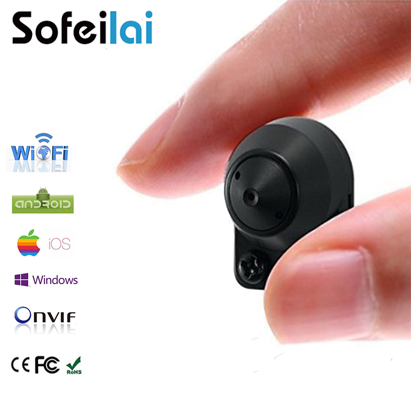 Small wifi wireless P2P IP camera onvif micro sd card home security cameras motion detect audio video mini network CCTV IPcam in Surveillance Cameras from Security Protection