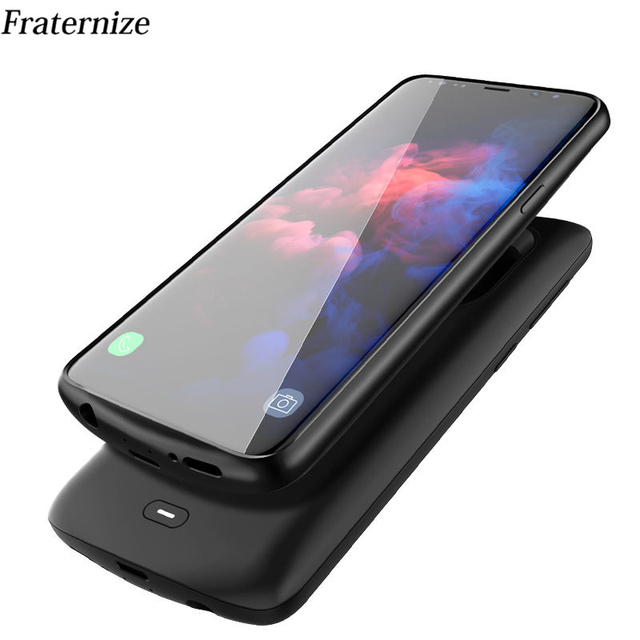 Schokbestendig battery charger case Voor Samsung Galaxy S9 S8 Plus Note 9 Externe Draagbare oplader Cover power bank Opladen case