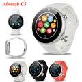 Aiwatch c5 relógio monitor de freqüência cardíaca de 360 graus de rotação coroa bluetooth4.0 esportes mtk2502 ip67 smart watch smartwatch à prova d' água