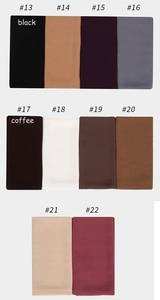 Image 5 - 1 Pc Hot Sale Bubble Chiffon Scarf Shawls Big Size 180*85cm Two Face Plain Solider Colors Hijab Muslim scarves/scarf 22 Colors