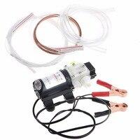 12V 45W Car Electric Oil Diesel Fuel Extractor Transfer Pump W Crocodie Clip