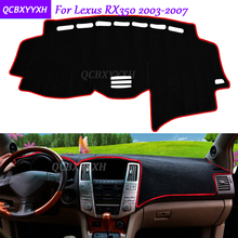 For Lexus RX350 2003-2007 Dashboard Mat Protective Interior Photophobism Pad Shade Cushion Car Styling Auto Accessories