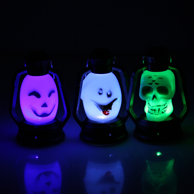 Led light hanging lantern lamp pumpkin smile ghost shape halloween led light hanging lantern lamp pumpkin smile ghost shape halloween decoration bar house holiday party decor aloadofball Gallery