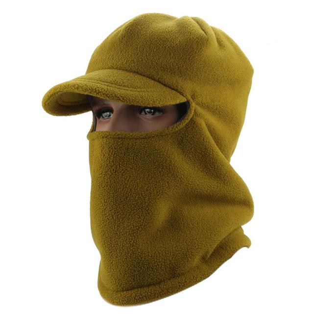 6pcs Cold Weather Olive Polar Fleece Face Mask Neck Cover Women Brim Caps  Men Hiking Red Baseball Hats for Fall Winter Wholesale c0f406dad502