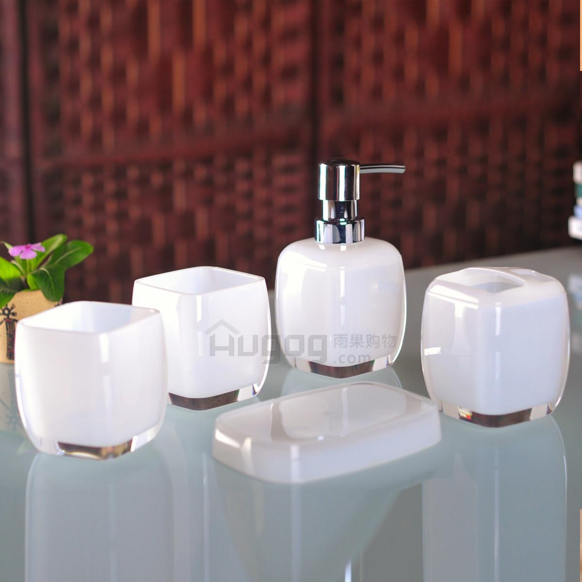 Fashion 5pcs bathroom set ,5pcs sets of gargle cup set high grade bathroom products