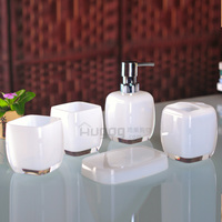 Fashion 5pcs bathroom set ,5pcs sets of gargle cup set high grade bathroom products