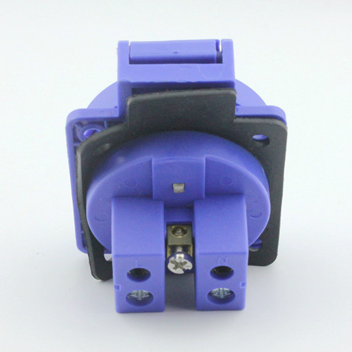 2pcs Europe type waterproof industrial plugs equipped with hidden 2 core 2 p / 16 a 220 v socket 2 p + E