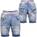 3669 verano pantalones vaqueros de mezclilla pantalones cortos de los bebés suave fresco pantorrilla PANTS azul claro ocasional corto de la nueva manera niños de los niños