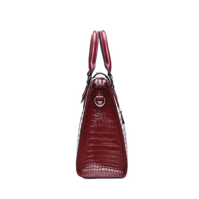 Chuwanglin Fashion women Genuine Leather handbag Stereotypes Crocodile pattern handbag women's women messenger bag shoulder bag