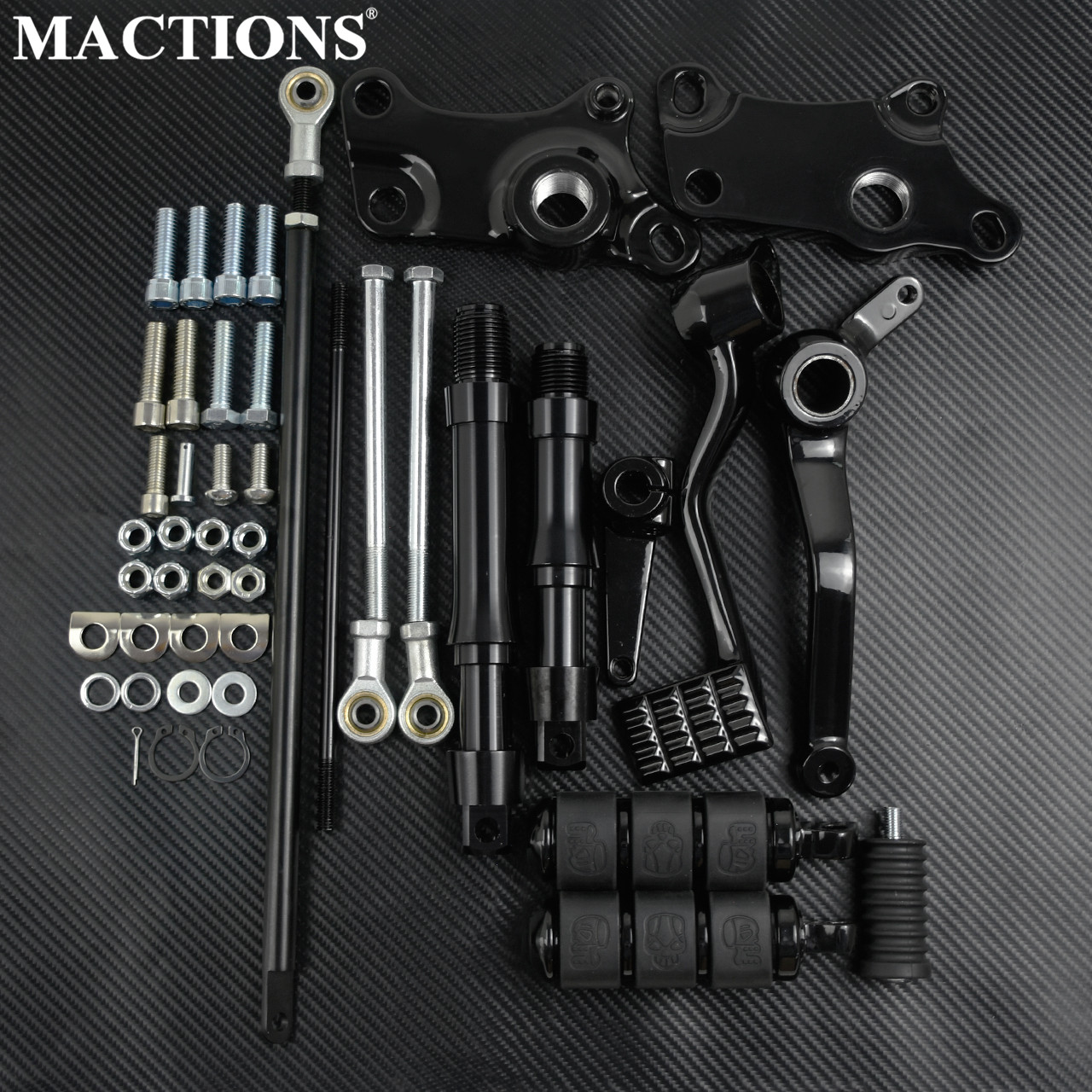Motorcycle Black Forward Controls Complete Kit Set With Pegs Lever Linkages For Harley Sportster XL 1991 1992 1993-2003