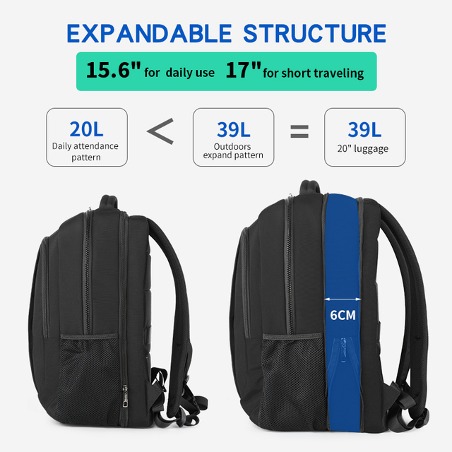 Tigernu 2019 New Fashion Travel 39L 17.3 inch Large Capacity Laptop Backpacks Men Anti theft Zippers Waterproof Male Schoolbags 1