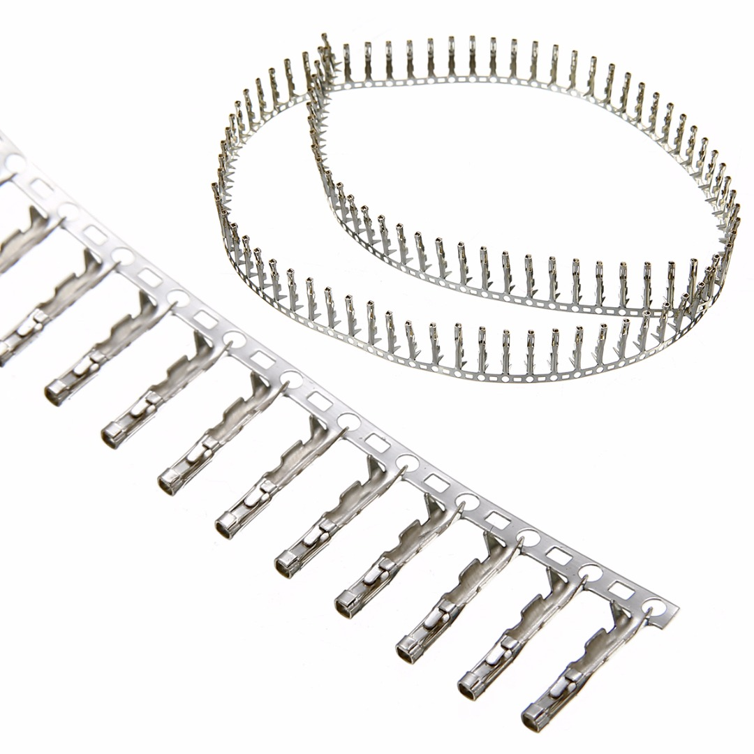 100pcs Single Row 2.54mm Female Pin Connector Housing Terminal Kit Set For Dupont Jumper Wire Cable 100pcs 22awg bootlace cooper ferrules kit set wire copper crimp connector insulated cord pin end terminal en0508