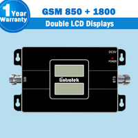 Lintratek Double LCD Displays GSM 65dB Cellphone Amplifier GSM 850 DCS1800 Dual Band Cellular Signal Repeater