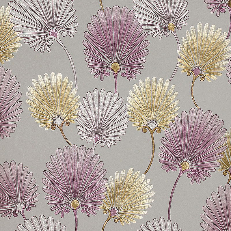 Pastorale Vintage Floral papier peint 3D romantique fleur chambre papier peint pour murs 3D Mural papier peint PVC papier peint or argent - 5