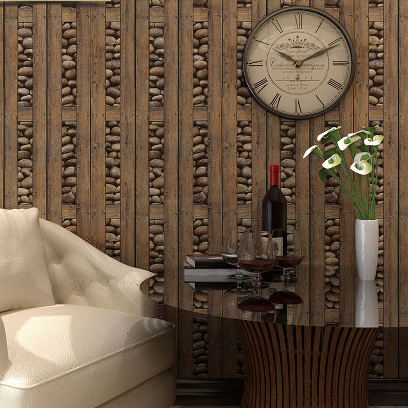 Vintage brick wallpaper 3d pvc wood stone waterproof wall papers home decor personalized contact vinyl wall panels papel tapiz in wallpapers from home