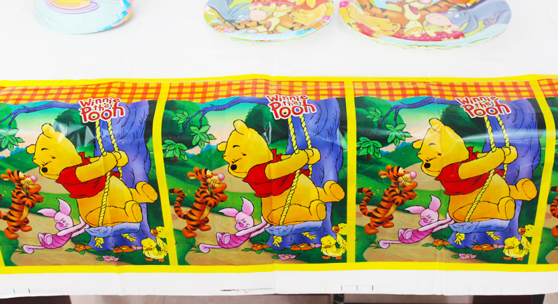 1 Pz Bella 220 132 Cm Compleanno Monouso Tovaglie Winnie The Pooh