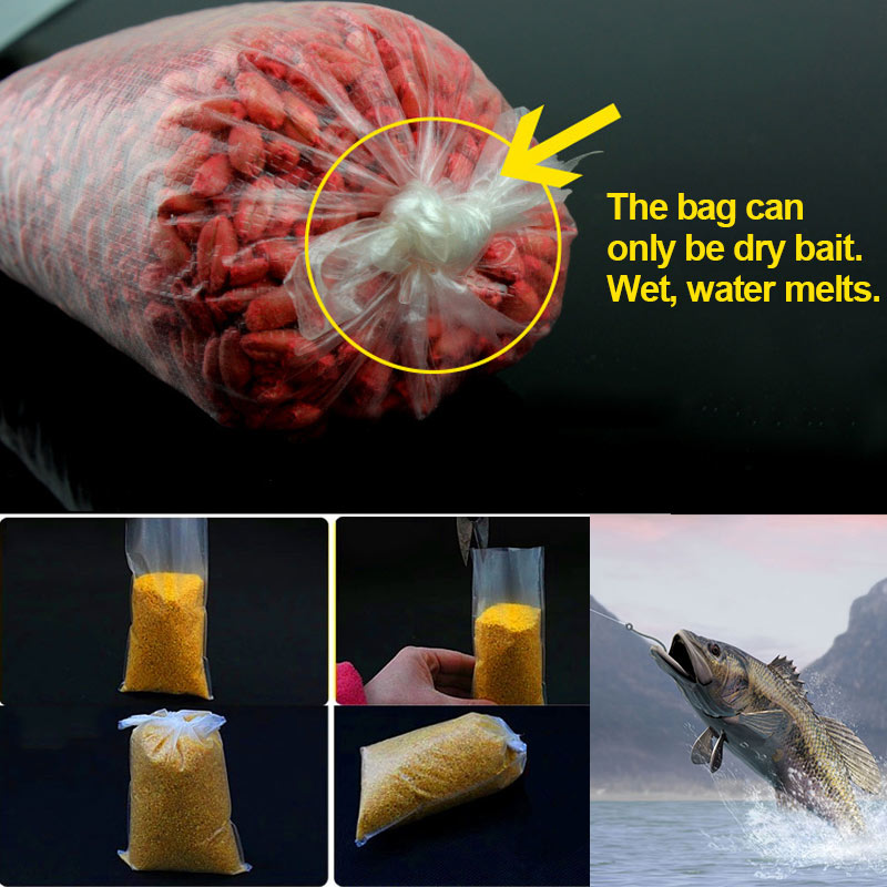 20/40/60 Pcs Fishing PVA Bag Feeder Sea Carp Coarse Quickly Soluble Water Dissolving Fishing Materials Carp Tackle Accessories